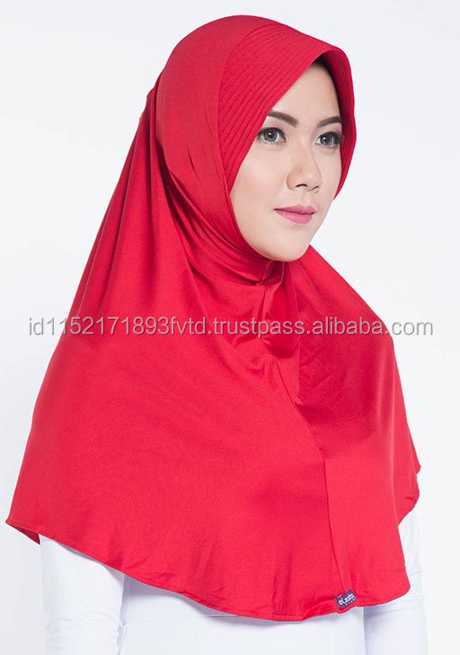 2017 Best Selling Product Elzatta Zaria Casual Racing Red Hijab For The World 24 Color Options