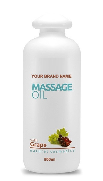 Massage Cream Grape - 500 ml. 100% Natural. Private Label Available. Made in EU