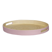 Hotel Bathroom Use Wooden Serving Tray/ designer food round bamboo tray