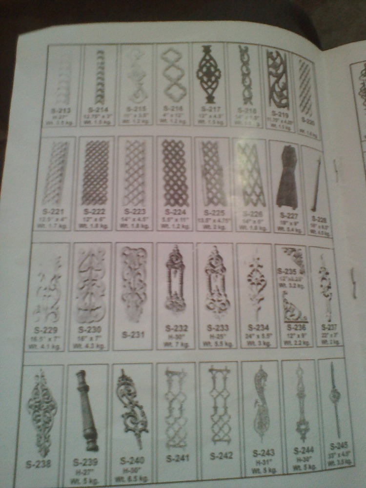 cast iron balusters grille