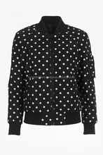 Two in one reversible polka dots bomber jacket All sizes available by wingstraders