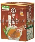 Various kinds of instant green iced tea brands made in Japan , hot type also available