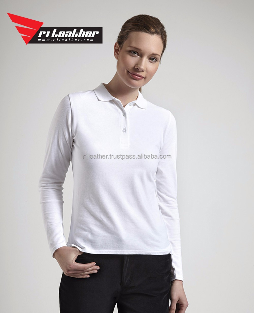 Bulk Polo Shirts Wholesale China New Design Women Blank Polo Shirts Customized Logo