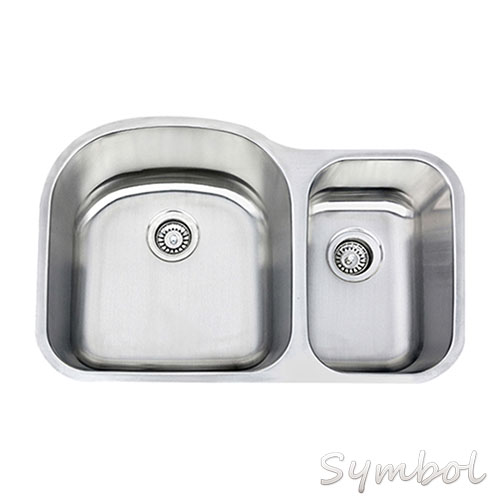 Stainless steel bathroom vanity cabinets w/oval sinks