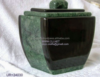 Jungle Green and Black Patch Funeral Urns in Bulk Price