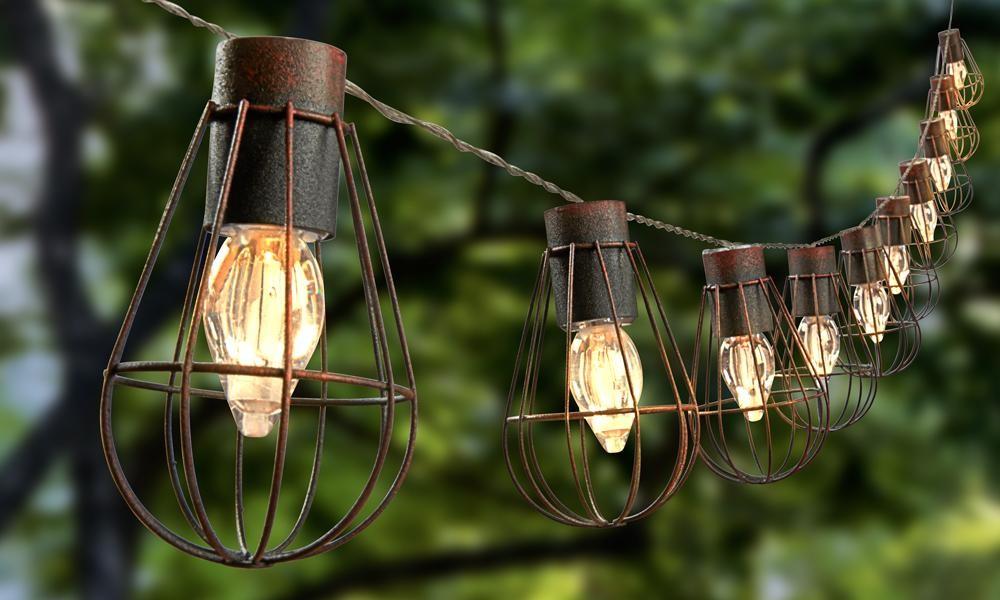 Industrial Design Solar Metal Cage Pendant String Lights (jl-7613) - Buy Cage Light,Led String ...