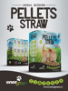 Pellets Straw - Animal Bedding For Cats, Rabbits And Other Small Pets