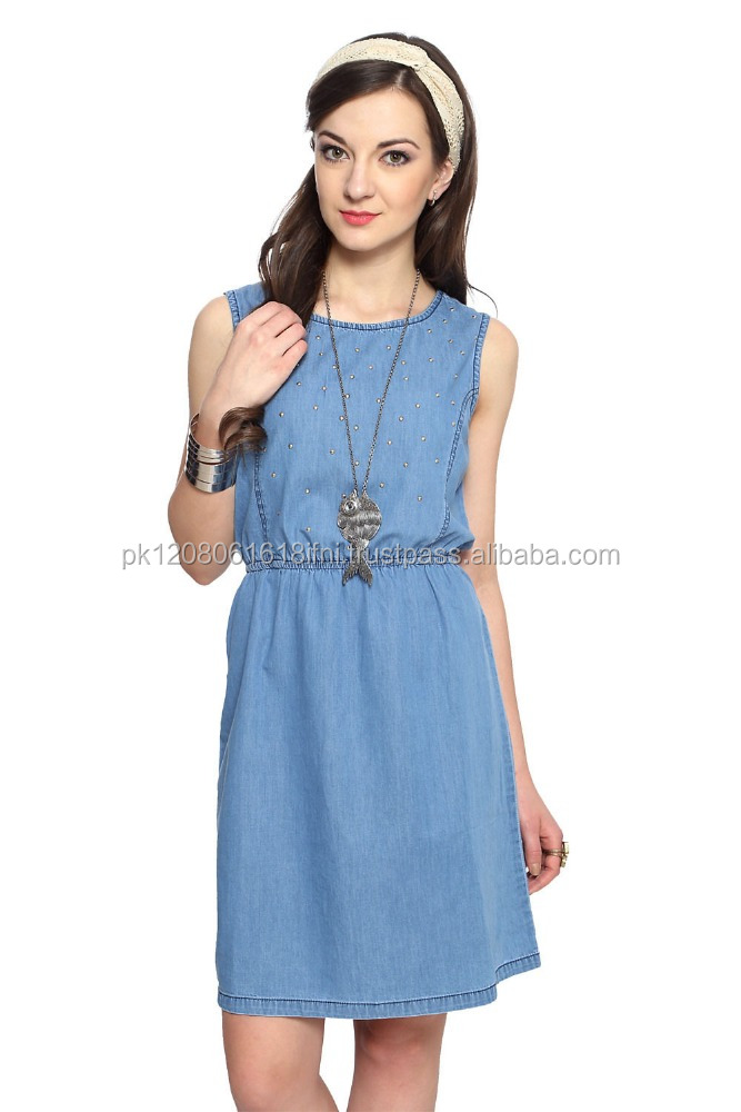 new products designer ladies denim jeans dresses