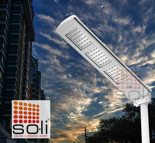 SOLi Solar Lithium Lamp 20W All-in-one integrated solar light