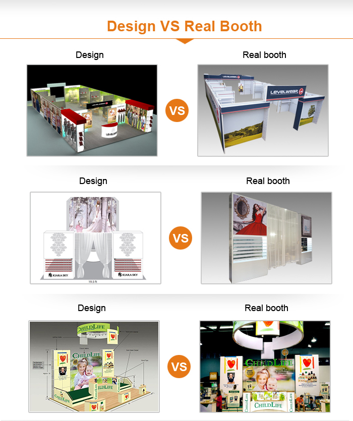 New design stand exhibition with low price