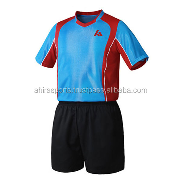 Comfort soccer uniform/selling very hot/all time best/100% polyester/self design fabric/in house production