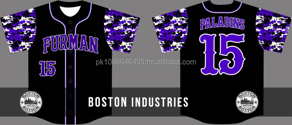 Fully Sublimated Baseball Jerseys Camo Short Sleeve with Custom Team,Club,School Name,Number Men Baseball Jersey at Boston