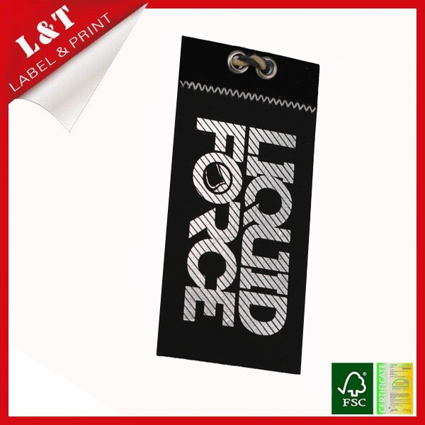 Hot stamping kraft paper jeans hang tag template