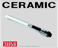 packaging film cutting knife, ceramic snap off blade, retractable, wear resistant, made in Japan