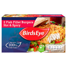 Birds Eye Hot & Spicy Fish Fillet Burgers