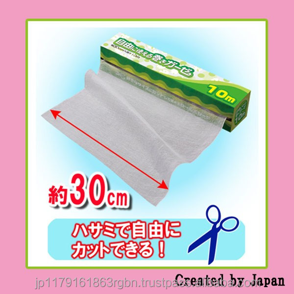Disposable and Low-cost medical gauze roll 10m with multiple functions created by Japan