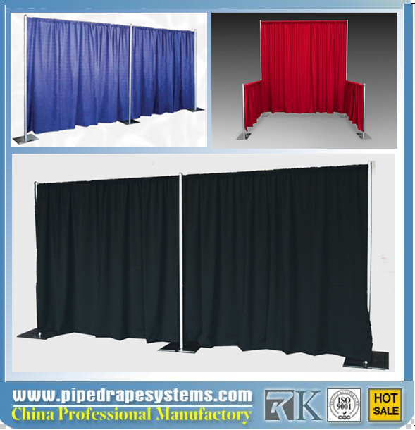Aluminum trade show photo booth displays Manufacturer pipe and drape system in wedding supplies