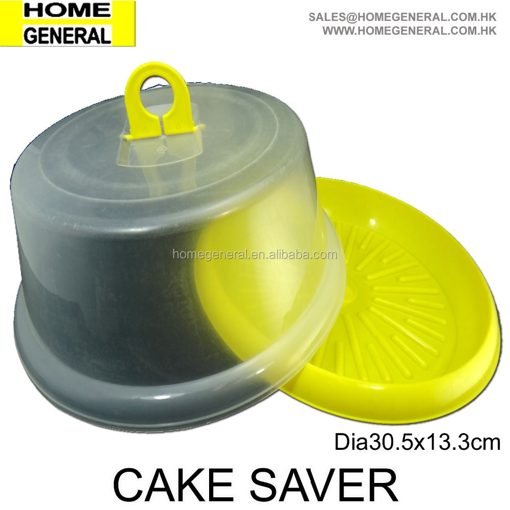 PLASTIC CAKE CONTAINER WITH LID AND HANDLE