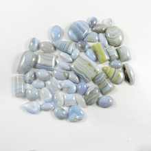 BIG Sale! Christmas Special Offer!!! 46 Pcs Natural Blue Lace Agate 100 Gram, Mix Cabochon Gemstone For Jewelry SI0641