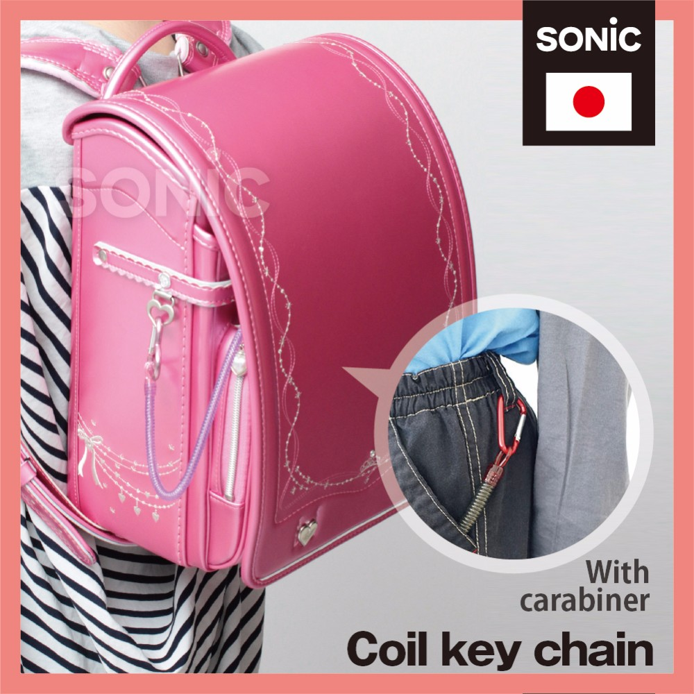 Portable and Convenient Plastic spiral cord Coil key chain at reasonable prices , OEM available