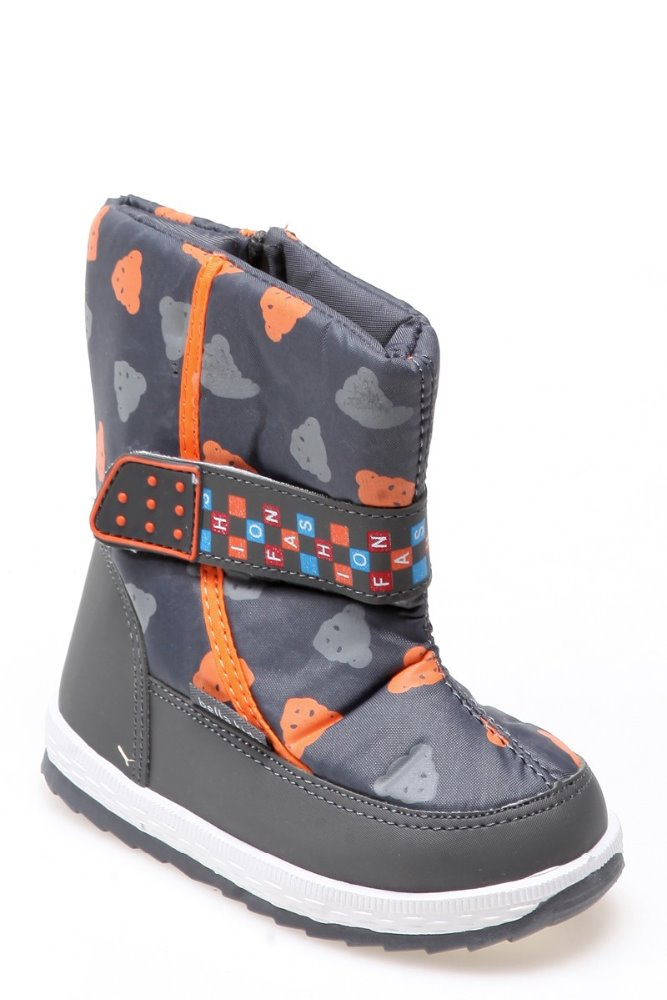 teddy bear patterned snow boots