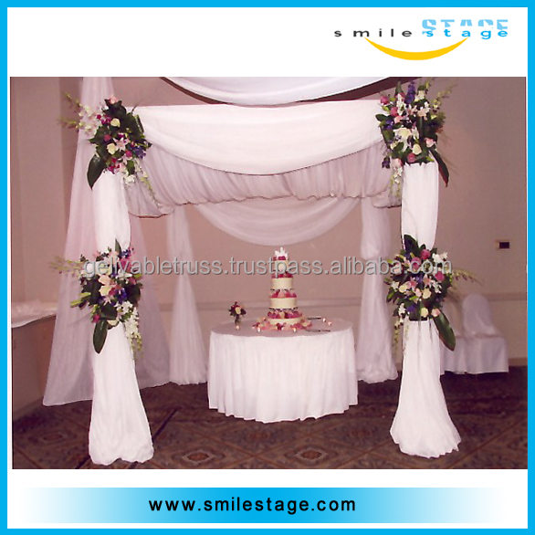 easy portable photo booth frame drape pole