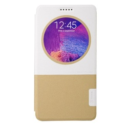 Baseus Unique Window View Leather Smart Cover w/ Stand for Samsung Galaxy Note 4 N910 - White