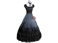Two Piece Vintage Black Gothic Victorian Lolita Ball Gown