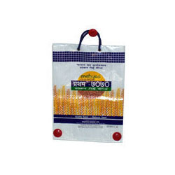 Handle Pp Woven bag/ Bopp Coated Rice Packaging