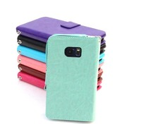 Multicolor Card Slot Leather Wallet Phone Case For Samsung Galaxy Flip Cover Case