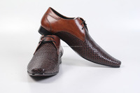 Latest Design Tan Mens Party Style Genuine Leather Dress Shoes