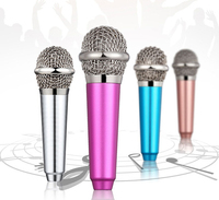 hot selling mini mobile microphone 3.5mm wired clip On Mini Headset Karaoke microphone for iphone&android tablet computer