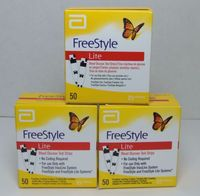 Freestyle Lite Glucose Test Strips 50 - Pack of 3