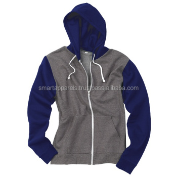 new model of hoodie gray and blue colour combination