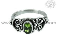 Huge Selection of Wholesale Silver Jewelry Peridot Ring Indian Silver Jewelry Sterling Silver Manufacture