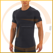 sport wear longline muscle fitness tshirt men slim fit men's t-shirts with chest printing