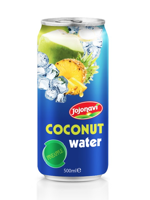 Coconut water with Fruit juice mango flavor in Aluminium can 500ml Coconut water