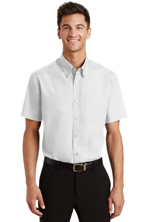 Port Authority Short Sleeve Value Poplin Shirt - 65/35 poly cotton, button-down collar, chest pocket and comes with your logo