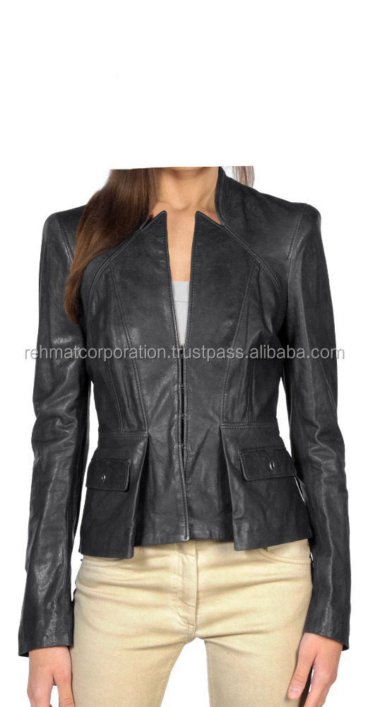 Athletic And Agile Look Leather Jacket With Body Fitt
