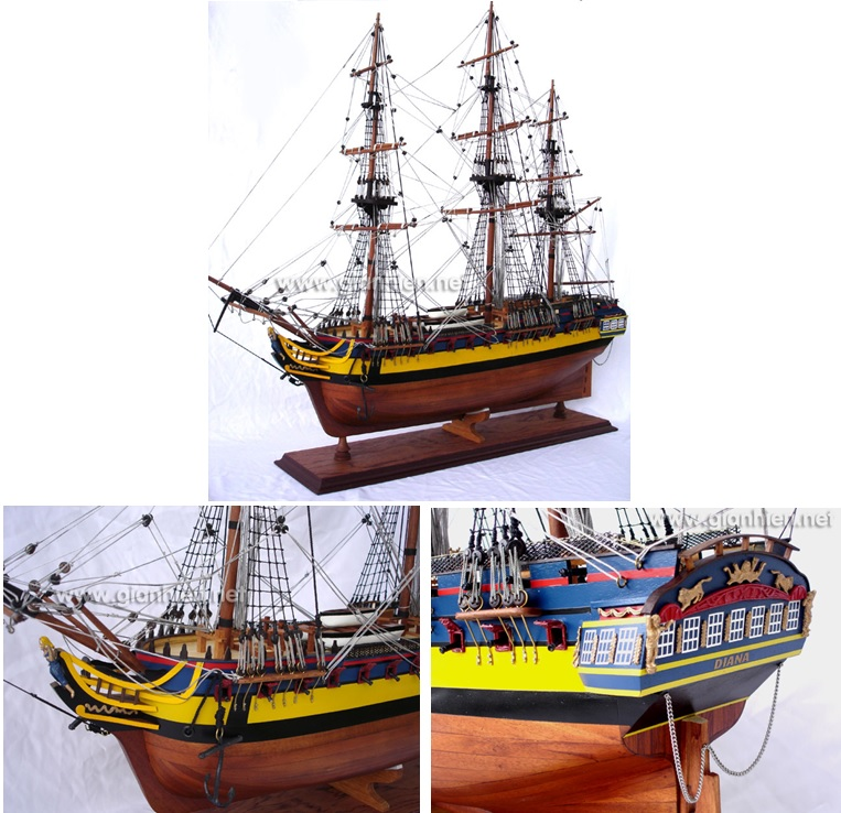 WOODEN H.M.S DIANA MODEL TALL SHIP/ WOODEN TALL SHIP/ SHIP MODEL