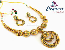 Wholesale 2015 indian Meenakari Necklace Sets-Menakari Necklace Sets- Kundan jewelry