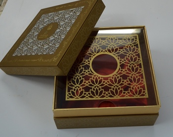Designer high-end laser cut packaging gift box for corporate gifting and packaging