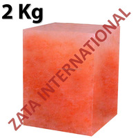 Himalayan Natural Rock Block Salt Licks Licking Feed Mineral Stone 2 Kg for Livestock Cattle Horse Camel Cow Sheep