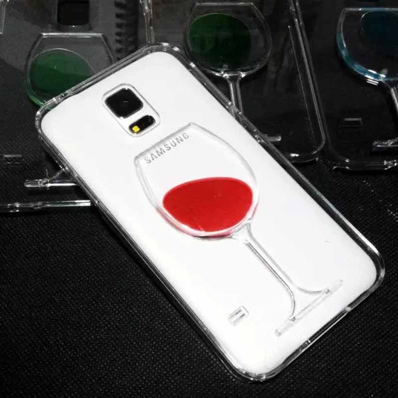 Luxury Dynamic Liquid Bottle Style TPU Hard Phone Case Cover for Samsung S5