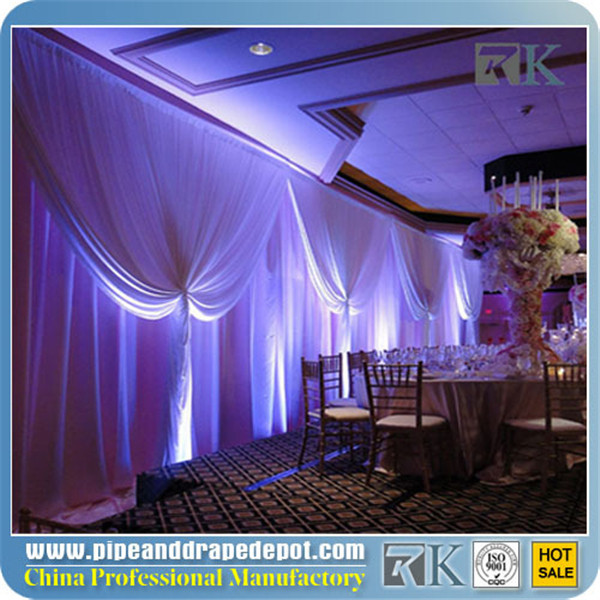 RK Motorized Curtain Track For Banquet Hall Show Use Motor Curtain