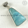 Larimar !! Semi Precious Stone Silver Jewelry /Handmade Silver Jewelry /Wedding Collection Of Pendant PNCB1560-124