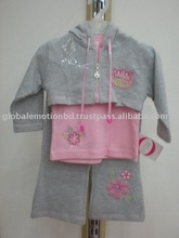 Children Girl Clothes Set Wholesale /cheap baby girl Clothing, FASHIONABLE CUTE DESIGN GIRLS 3PCS CLOTHING SET