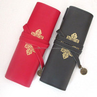 PU with logo promotion pencil bags