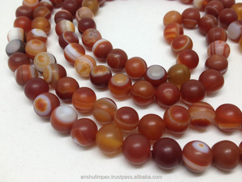 Natural Red Sulemani Agate Eye Loose Beads Semi Precious Stone Beads Red Sulemani Agate Beads