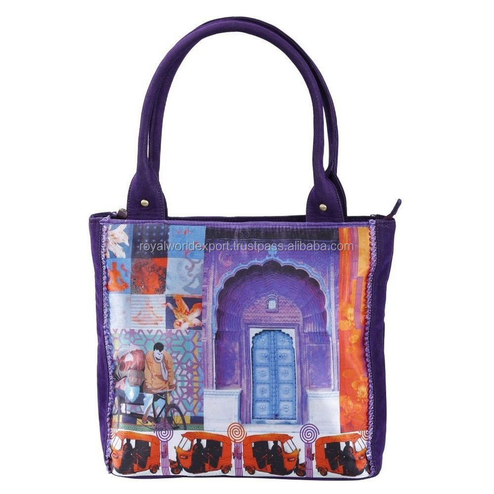 Retro Vintage Fall Winter High Quality Digital Print Personalized Women Handbags/Hot Girl Fashion Collage Designer Tote Handbag
